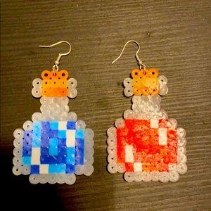 potion bottle kandi earrings